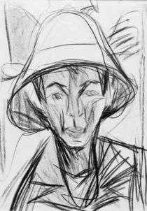 E.L.Kirchner / Self-Portr. w. Sheperd's Hat by AKG  Images