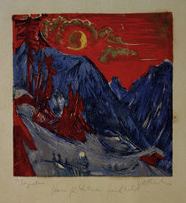 E.L.Kirchner / Winter Landscape by Moon. by AKG  Images