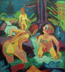 Ernst Ludwig Kirchner, Naked women bathing in the mountain pool by AKG  Images