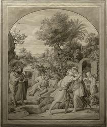 J.Schnorr v. Carolsfeld, Jakob und Rahel am Brunnen by AKG  Images