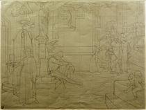 C.Brentano, Romanzen vom Rosenkranz / Skizze zu einem Wandbild v. E.Steinle von AKG  Images
