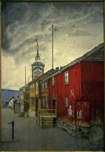 H.Sohlberg, Straße in Røros by AKG  Images