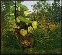 H.Rousseau, Kampf zwischen Tiger u. Büffel von AKG  Images