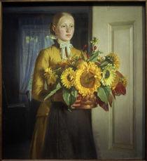 M.Ancher, Mädchen mit Sonnenblumen von AKG  Images