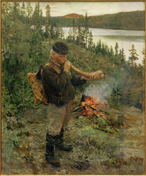 A.Gallen-Kallela, Hirtenjungen asu Paanajärvi by AKG  Images