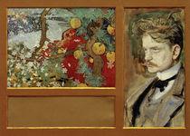 En Saga - Imaginary Landscape with Portrait of Jean Sibelius / Akseli Gallen-Kallela / 1894 by AKG  Images