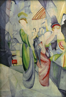 A.Macke / Women in front of hat shop by AKG  Images