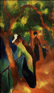 August Macke, Sunny Road / painting by AKG  Images