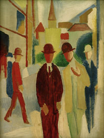 A. Macke, Brights street with people, 1914 by AKG  Images