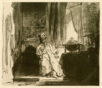 Rembrandt, Philosopher / Drawing by AKG  Images