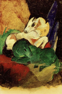 Franz Marc, Green and white horses by AKG  Images