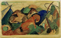 Franz Marc, Resting mare and foals by AKG  Images