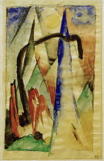 Franz Marc / Horses in a Landscape by AKG  Images
