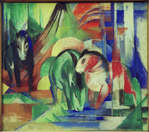 Franz Marc, Three horses at the trough by AKG  Images