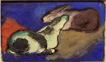 Franz Marc / Two Sleeping Rabbits by AKG  Images