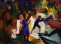 A.Macke, Children playing by the water by AKG  Images