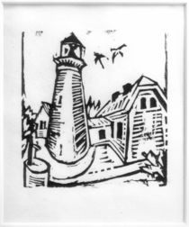 E.L.Kirchner, Lighthouse on Fehmarn by AKG  Images