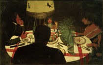 F.Vallotton, The Dinner, Lighting by AKG  Images