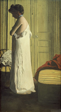 Woman Removing her Petticoat / F. Vallotton / Painting 1900 by AKG  Images