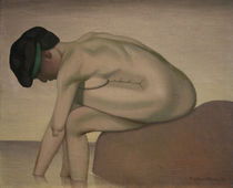 F.Vallotton, Bather sitting on a rock by AKG  Images