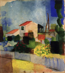 August Macke / The Bright House by AKG  Images