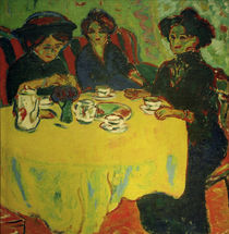 Ladies Having Coffee / E.L. Kirchner / Painting 1908 by AKG  Images
