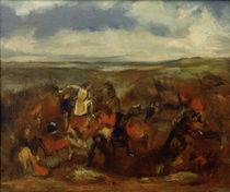 Degas n. Delacroix, Schlacht bei Poitiers von AKG  Images