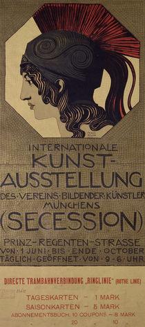 F. v. Stuck / Plakat Int. Kunstausstellung von AKG  Images