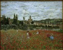 Claude Monet, Mohnfeld bei Vétheuil von AKG  Images