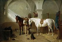 Pferdestall / Gemälde von Franz Adam von AKG  Images