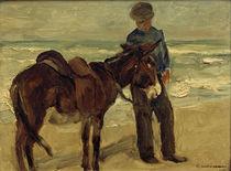 M.Liebermann, Junge mit Reitesel von AKG  Images
