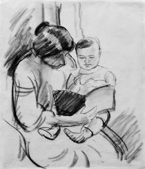 A.Macke / Mother and Child Reading by AKG  Images