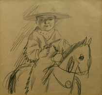 A.Macke / Walter as Cowboy / Drawing by AKG  Images