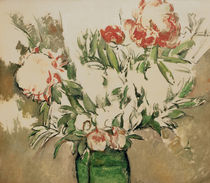 Cézanne / Peonies in a green jug /c. 1898 by AKG  Images