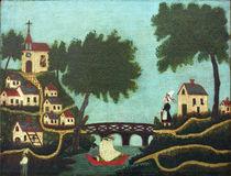 H.Rousseau, Landschaft mit Brücke von AKG  Images