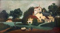 H.Rousseau, Pferdefuhrwerk vor Mühle von AKG  Images