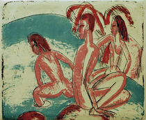 Bathers near Rocks / E.L.Kirchner / Lithograph, 1913 by AKG  Images