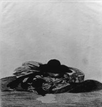 Manet / Hat and Guitar / Etching by AKG  Images