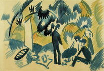 A.Macke / On Lake Thuner, Picnic by AKG  Images