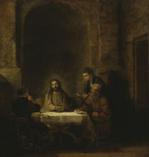 Christ in Emmaus / Rembrandt / 1648 by AKG  Images