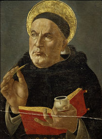 Thomas Aquinas / Painting attributed to Botticelli by AKG  Images