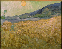 Van Gogh / Wheatfield with Reaper / 1889 by AKG  Images