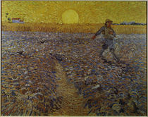 Man Sowing at Sunset / V. v. Gogh / Painting 1888 by AKG  Images