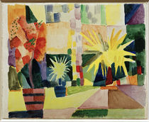 August Macke / Garden on Lake Thun by AKG  Images