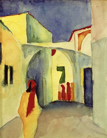 August Macke, View of an Alley in Tunis, 1914 by AKG  Images