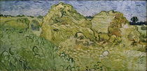 V. v. Gogh, Field w. Wheat Stacks / Ptg./1890 by AKG  Images