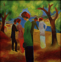 August Macke, Lady In A Green Jacket by AKG  Images