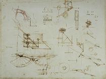 Vinci / Mechanik / Anatomie / Studie / fol. 34 r von AKG  Images