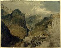 W.Turner, Der Pic de l'Oeillette, Gorges du Guiers Mort, auf Saint-Laurent-du-Pont zurückblickend by AKG  Images