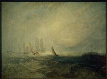 W.Turner, Fischerboote bringen ein manövrierunfähiges Schiff in den Hafen von Ruysdael von AKG  Images